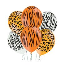"""Animal Print Safari 11"""" Latex 6pk"""