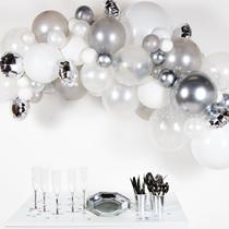 Silver DIY Latex Balloon Garland