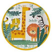 Get Wild 23cm Paper Plates 8pk