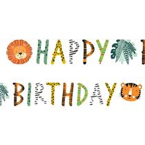 Get Wild Happy Birthday Letter Banner