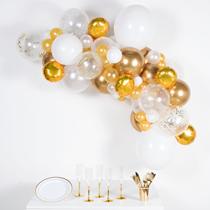 Gold & White DIY Latex Balloon Garland