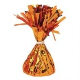Orange 6oz Foil Tassel Balloon Weight