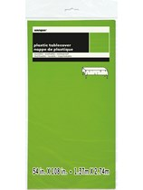 "Neon Green Rectangular Plastic Tablecover 54""x 108"""