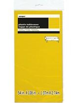 "Neon Yellow Rectangular Plastic Tablecover 54""x 108"""