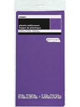 "Neon Purple Rectangular Plastic Tablecover 54""x 108"""