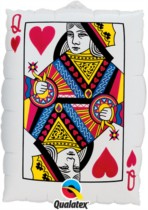 """Playing Card SuperShape Foil Balloon 30"""""""