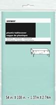 Mint Green Rectangular Plastic Tablecover
