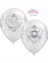 "Cinderella & Prince Charming 11"" Pearl White Latex Balloons 25pk"