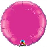 """Magenta 18"""" Round Foil Balloon"""