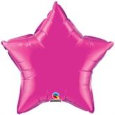 "Magenta 20"" Star Foil Balloon"
