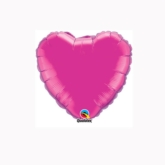 "Magenta 4"" Heart Foil Balloon"