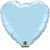 "Pearl Light Blue 18"" Heart Foil Balloon"