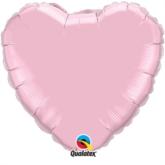 "Pearl Pink 36"" Heart Foil Balloon"