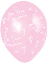 """Pink On Your Communion 11"""" Latex Balloons 25pk"""