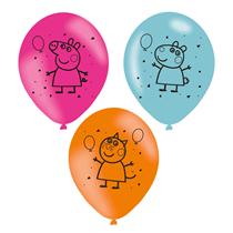 Peppa Pig Latex Balloons 6pk