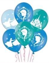 "Frozen 11"" 4 Sided Latex Balloons 6pk"