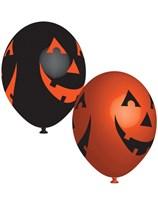 """Halloween Pumpkin 11"""" Latex Balloons 6pk"""