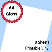 A4 Gloss Printable Vinyl 10 Sheets