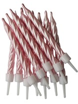 Pearlescent Pink Cake Candles 12pk