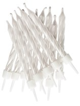 Pearlescent White Cake Candles 12pk