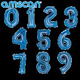 "Blue 16"" Minishape Foil Number Balloons"