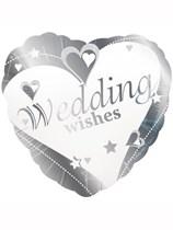 "Wedding Wishes 18"" Foil Balloon"