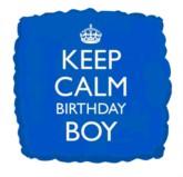 "18"" Keep Calm Birthday Boy Foil Balloon"