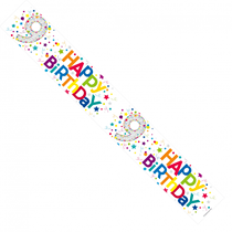 Colourful 9th Birthday Foil Banner