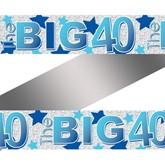 The Big 40 Blue Foil Banner