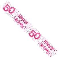 50th Birthday Banner