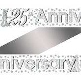 Silver 25th Anniversary Foil Banner