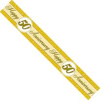 Golden 50th Anniversary Foil Banner