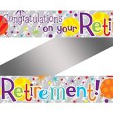 Congratulations on Your Retirement Foil Banner