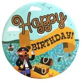 Pirate Happy Birthday Big Badge