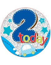 Age 2 Blue Birthday Big Badge