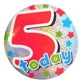 5 Today Holographic Big Badge