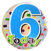 6 Today Blue Holographic Big Badge