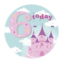 Jumbo Age 6 Princess Badge