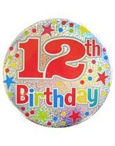 Age 12 Holographic Big Birthday Badge