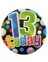 Age 13 Holographic Big Birthday Badge