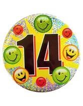 Age 14 Holographic Big Birthday Badge