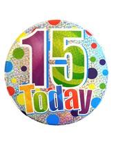 Age 15 Holographic Big Birthday Badge