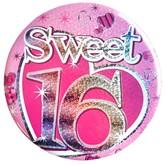 Sweet Sixteen Holographic Big Badge