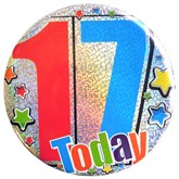 17 Today Holographic Big Badge