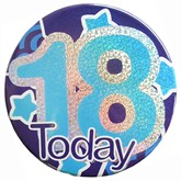Blue 18 Today Holographic Big Badge