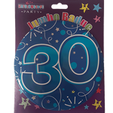 Blue Age 30 Jumbo Badge