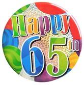 Happy 65th Holographic Big Badge