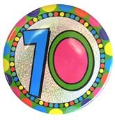 Age 70 Holographic Big Badge