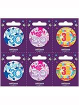 Small 30th Birthday Badges 6pk