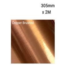 Copper Brushed Aluminium Vinyl 305mm x 2M